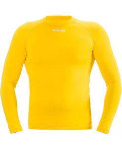 Svedundertrøje, langærmet, gul