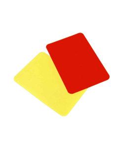 Dommerkort - Rødt/gult kort
