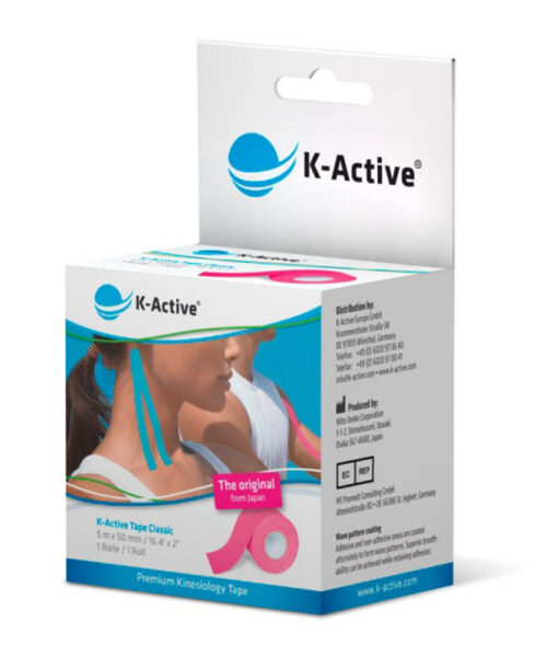 Kinesiologitape, K-Active Tape Classic, pink