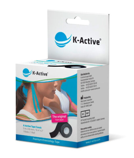 Kinesiologitape, K-Active Tape Classic, sort