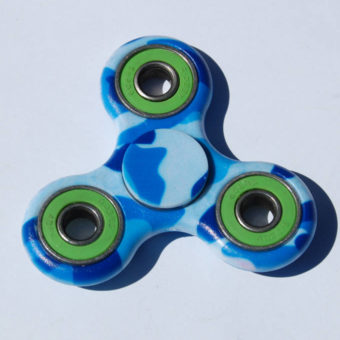 Fidget Spinner, blå/grøn