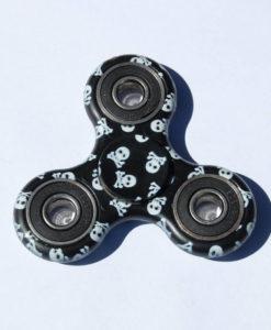 Fidget Spinner, sort/hvid