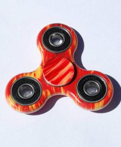 Fidget Spinner, rød/gul