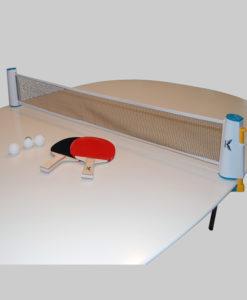 Bordtennissæt med udtræksnet, bat og bolde